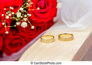 Wedding rings of bride and groom - Jewish wedding - Wedding...