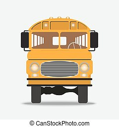 Yellow School Bus Illustration - Yellow School Bus front...