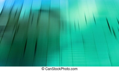 Tilted screen blue green loop BG