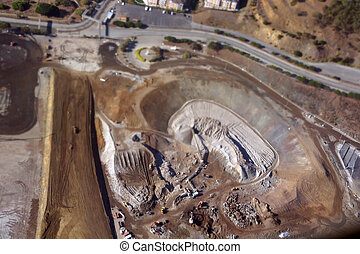 Aerial View of San Francisco Candlestick Park dirt hole