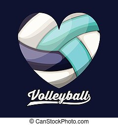 volleyball league design, vector illustration eps10 graphic
