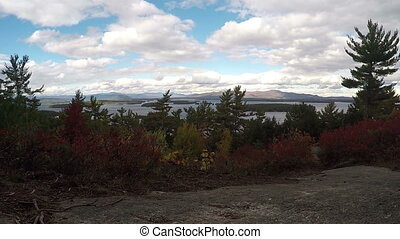 Beautiful nature time lapse skyline