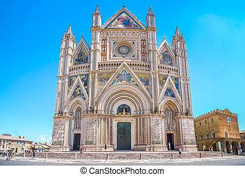 Cathedral of Orvieto Duomo di Orvieto, Umbria, Italy -...