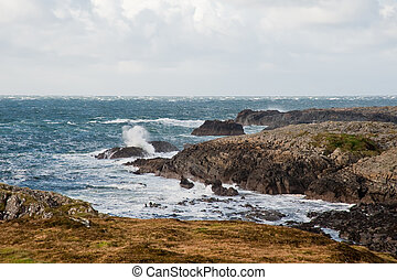 Islay coast - Rocky coastline of Islay, Scotland