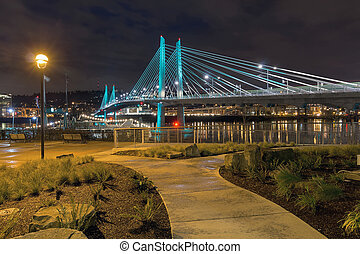 Tilikum Crossing by the Waterfront aty Night - Tilikum...