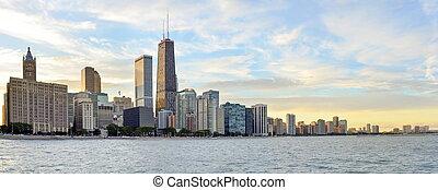 Chicago waterline panorama