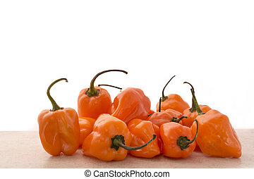 Habanero Pepper - Approach and details a set of chiles...