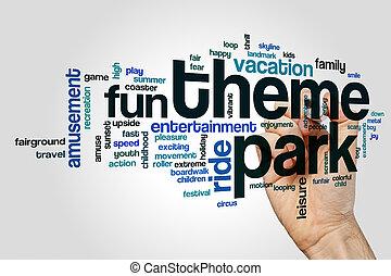 Theme park word cloud concept - Theme park word cloud