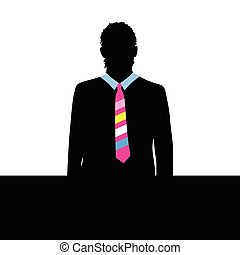 man with tie color illustration