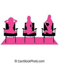 girl pink illustration silhouette