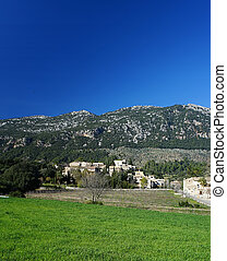 orient village in majorca - Tramuntana mountains and orient...