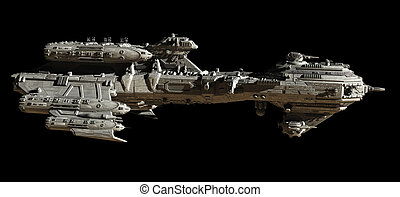 Interstellar Frigate Space Ship - Science fiction...