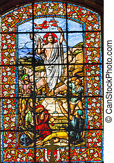 Jesus Christ Ressurection Stained Glass Basilica Saint Louis...