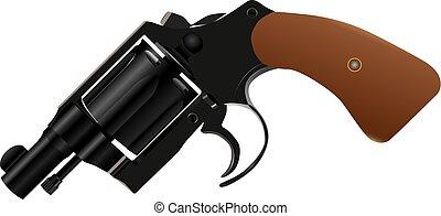 Gun with a drum and a convenient short barrel