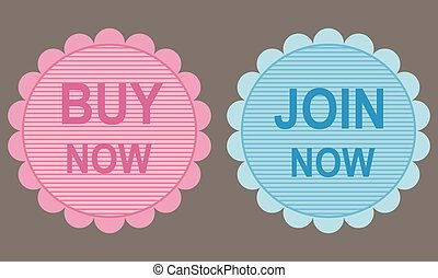 Web stickers: buy and join now