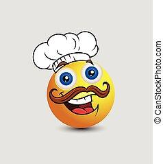 Funny Cartoon Chef Emoticon
