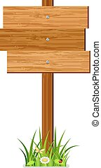 Wooden index - Vector wooden index on a white background