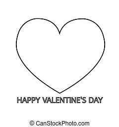 Valentine's day card with heart Illustration design