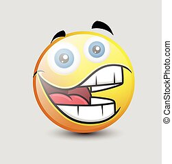 Funny Big Mouth Smiley - Funny Big Mouth Laughing Smiley...