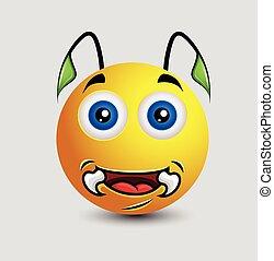 Funny Alien Monster Smiley