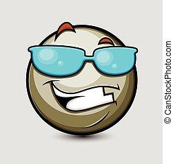 Happy Cool Smiley Vector
