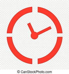 Time Clock icon Illustration sign design