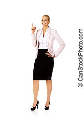 Young business woman having an idea