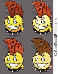 Punk Style Emoji Smiley Emoticon