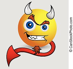 Scares Up Devil Smiley - Bad Naughty Scares Up Devil Smiley...