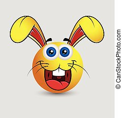 Funny Laughing Rabbit Smiley