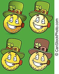 St. Patrick's Day Smiley Characters