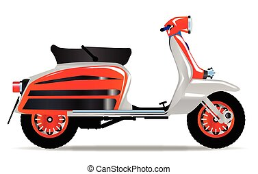 60s Scooter Motorbike - A typical 1960 style motor scooter...