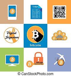 bitcoin icon collection