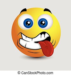 Oops - Tongue Out Smiley Vector Illustration