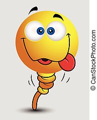 Goofy Smiley Character