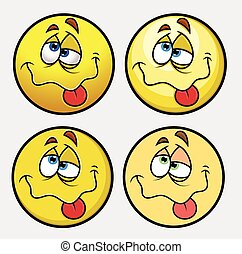 Beaten Emoji Smiley Characters - Beaten Emoji Characters...