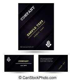 Corporate Flyer Design modern black brochure with business...