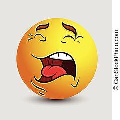 Screaming Smiley Emoticon