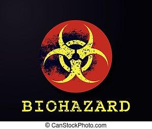 biohazard warning symbol vector illustration