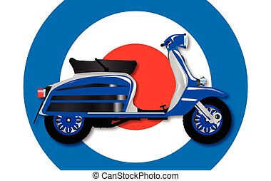 60s Scooter and UK Symbol - A typical 1960 style motor...