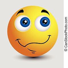 Wondering Emoji Smiley Emoticon