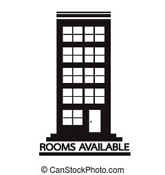 Hotel Rooms Available icon Illustration design