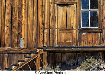 Entrance of an old house in Bodie
