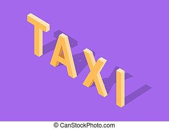 Flat 3d Isometric Car Taxi - Flat 3d isometric high quality...