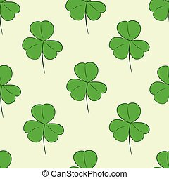 Seamless green shamrocks - Seamless texture with identical...