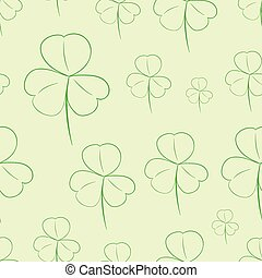 Seamless contours of shamrocks - Seamless texture with...
