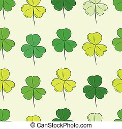 Seamless color shamrocks - Seamless texture with identical...