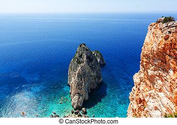 Zakynthos - Beautiful sea landscapes on Zakynthos Island in...