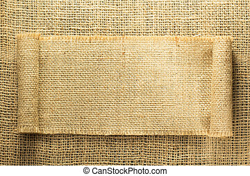 burlap hessian sacking as background texture