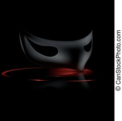 dark half mask - dark background and carnival black half...